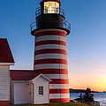 West Quoddy Head Light At Dawn I by Clarence Holmes