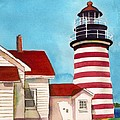 West Quoddy Light House by Nan Wright