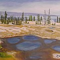 West Thumb Geyser Basin Yellowstone by Sally Jones