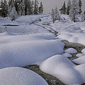 West Thumb Snow Pillows II by Sandra Bronstein