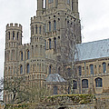 West Tower Of Ely Cathedral  by Tony Murtagh