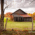 West Virginia Barn In Fall by Kathleen K Parker