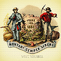 West Virginia Coat Of Arms - 1876 by Mountain Dreams