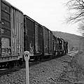 Westbound Train Black And White by Kristen Mohr