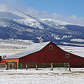 Westcliffe Landmark - The Red Barn by Gary Benson