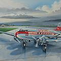 Western Airlines Dc-3 by Stuart Swartz