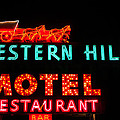 Western Hills Motel Sign by Sue Smith