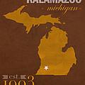 Western Michigan University Broncos Kalamazoo Mi College Town State Map Poster Series No 126 by Design Turnpike