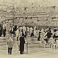 Western Wall Jerusalem Antiqued by Mark Fuller