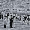 Western Wall Jerusalem Bw by Mark Fuller