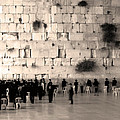 Western Wall Photopaint One by Joseph Hedaya