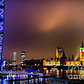 Westminster And Eye Night Glow by Matt Malloy
