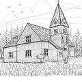 Westmore Community Church by Richard Wambach