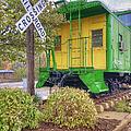 Weston Railroad Crossing by Liane Wright