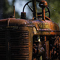 Wet Red Tractor by Alan Roberts