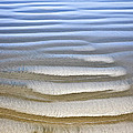 Wet Sand Texture On Ocean Shore by Elena Elisseeva