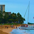 Whale Watchers On Maui by Richard Jenkins