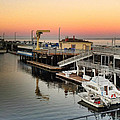 Wharf #2 In Monterey At Sunset by Charlene Mitchell