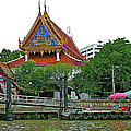 Wharf Along Waterway Of Bangkok-thailand by Ruth Hager