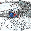 What Fascinates Children And Dogs -  Snow Day - Winter by Barbara Griffin