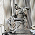 What Is Past Is Prologue Statue At National Archives -- 2 by Cora Wandel