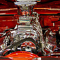 What Is Under The Hood-red Customized Retro Pontiac by Eti Reid