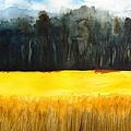 Wheat Field 1 by Carlin Blahnik CarlinArtWatercolor