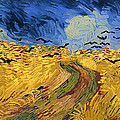 Wheat Field With Crows by Mountain Dreams