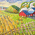 Wheat Harvest Kamouraska Quebec by Patricia Eyre