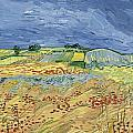 Wheatfield With Stormy Sky by Vincent van Gogh