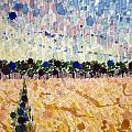 Wheatfields At Dusk by Bonnie Follett