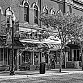 Wheaton Front Street Store Fronts Black And White by Christopher Arndt