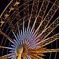 Wheel At Night Niagara Falls by Maria isabel Villamonte