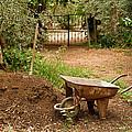 Wheel Barrow Next To Soil Heap by Leyla Ismet