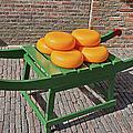Wheels Of Dutch Gouda Cheese by Artur Bogacki