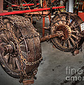 Wheels Of Old Steam Wagon by Kaye Menner