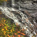 When Light And Water Falls-5a Blackwater Falls State Park Wv Autumn Mid-morning by Michael Mazaika
