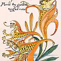 When Lilies Turned To Tiger Blaze by Walter Crane
