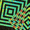 When Squares  Merge Green by David Pantuso
