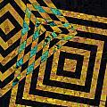 When Squares Merge Yellow by David Pantuso