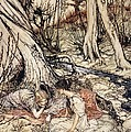 Where Often You And I Upon Fain Primrose Beds Were Wont To Lie by Arthur Rackham