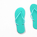 Where On Earth Is Spring - My Aqua Flip Flops Are Waiting by Andee Design