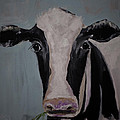 Whimisical Holstein Cow Original Painting On Canvas by Gray  Artus