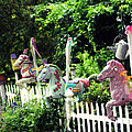 Whimsical Carousel Horse Fence by Beth Ferris Sale