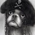Whimsical Funny French Bulldog Pirate  by Svetlana Novikova