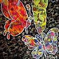 Whimsical Painting- Colorful Butterflies by Priyanka Rastogi
