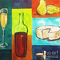 Whimsical Wine And Cheese by Lisa Owen-Lynch