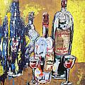 Whimsical Wine Bottles by Lisa Kramer