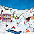 Whimsical Winter Village by Ian Nicholl