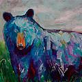 Whimsy Bear Painting Black Bear Brown Bear Wall Art by Gray  Artus
